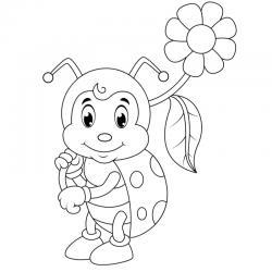 Tous les coloriages de Coccinelle, des dessins à imprimer pour le coloriage des Drôles de Petites Bêtes