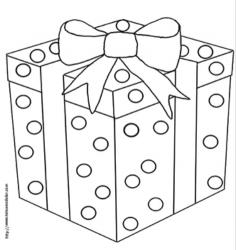 Coloriages de cadeaux, des dessins de cadeaux à imprimer