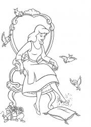 Coloriages de Cendrillon