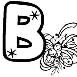 alphabet au motif de noël