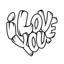 """Série de coloriages autour du mot love. Des coloriages autour de l'amour à offrir à ceux qu'on aime en témoignage d'amour pour la fête des mères, la fête des pères, la fête des grands-mères, la saint Valentin, un anniversaire ou pour dire simplement """" je"""