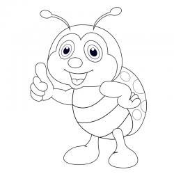 Coloriages et dessins pour découvrir avec l'enfant le monde des insectes.