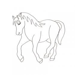 Imprimez un coloriage de cheval grâce à notre collection de coloriages de chevaux et poney à imprimer et à colorier. Coloriages pour s'amuser sur les équidés et sur l'équitation. Dessins sur les chevaux, certains sont naïfs d'autres plus réalistes pour dé