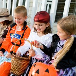Les enfants adorent la chasse aux bonbons d'halloween et vont vite vous poser une question cruciale ! Qu'est-ce que je diiiis ? Et bien oui, le déguisement ne suffira pas et il vous faudra une phrase terrifiante pour forcer les voisins à vous donner des b
