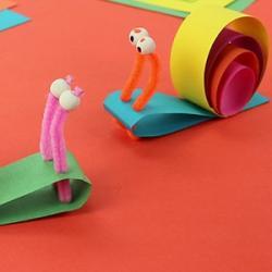 Une idée d'activité enfants pour faire des escargots en papier