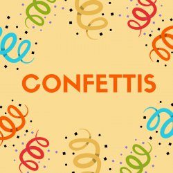 "Chanson ""Confetti""pour chanter avec les enfants. Paroles version à colorier."