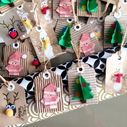 Un tuto simple et rapide pour créer vos étiquettes cadeaux