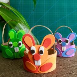 DIY - Un tuto pour réaliser des petits paniers de Pâques lapins avec les enfants