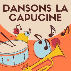 Chanson dansons la capucine. Paroles de la chanson à illustrer par l'enfant