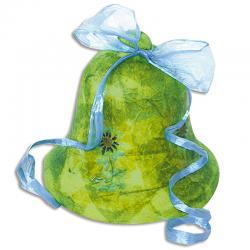 Décoration cloche de Pâques au papier collé