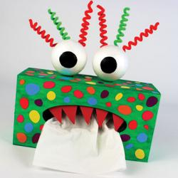 Des idées pour fabriquer et décorer sa boîte à mouchoirs