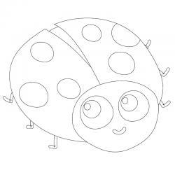 Dessin coccinelle : un coloriage de coccinelle à proposer aux enfants qui aiment ces petits insectes - Page 3