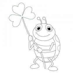 Dessin coccinelle : un coloriage de coccinelle à proposer aux enfants qui aiment ces petits insectes - Page 4