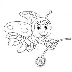 Dessin coccinelle : un coloriage de coccinelle à proposer aux enfants qui aiment ces petits insectes - Page 8