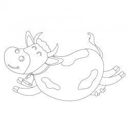 Voici un dessin de vache pour tous les enfants qui aiment les bovins et les animaux de la ferme - Page 7