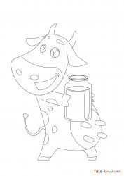 Voici un dessin de vache pour tous les enfants qui aiment les bovins et les animaux de la ferme - Page 10