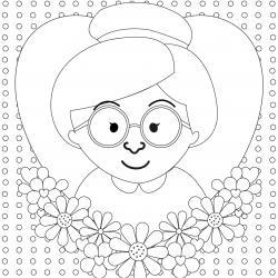 imprimez vite un dessin fête des grands mères pour faire plaisir à mamie le jour de sa fête.
