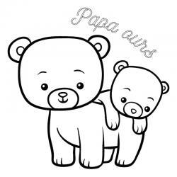 Voici un dessin de Fête des pères trop mignon pour faire plaisir à papa. Imprimez votre coloriage gratuitement. Page 03