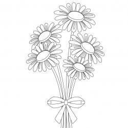 Dessin fleur : voici un dessin à imprimer avec une jolie fleur. Un coloriage à imprimer sur le thème des fleurs et de la nature - Page 01