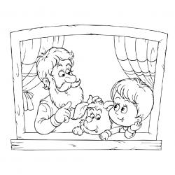 Voici un dessin de Grand Père à imprimer gratuitement. Un coloriage pour tous les enfants qui adorent leur papi. Page 05