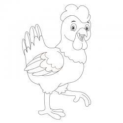 Voici un dessin poule à imprimer pour les enfants qui adorent ces animaux de la ferme ou pour Pâques - Page 10