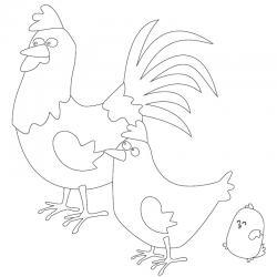 Voici un dessin poule à imprimer pour les enfants qui adorent ces animaux de la ferme ou pour Pâques - Page 3