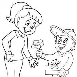 Voici un dessin pour maman à imprimer gratuitement. Un dessin pour faire plaisir à la fête des mères ou pour un anniversaire. - Page 1