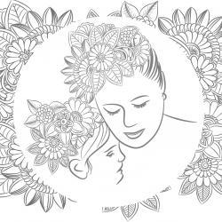 Voici un dessin pour maman à imprimer gratuitement. Un dessin pour faire plaisir à la fête des mères ou pour un anniversaire. - Page 9