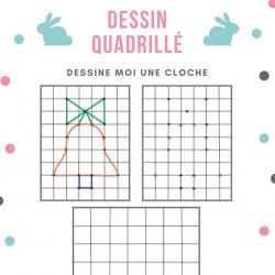 Après avoir observer le modèle du dessin de la cloche du jeu de dessin quadrillé , le recopier sur une grille identique en s&r...