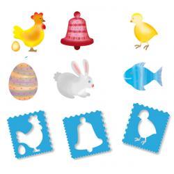 Dessins de Pâques aux pochoirs