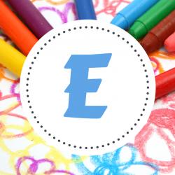 Coloriage prénoms qui commencent par E