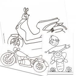 Coloriage motos