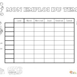 Des dessins et des emplois du temps à imprimer et colorier pour aider votre enfant à s'organiser