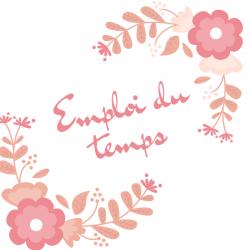 Imprimez gratuitement un emploi du temps avec des fleurs afin d'aider toute la famille à s'organiser. Grace à l'emploi du temps, l'enfant peut visualiser la semaine et les taches qu'il a à faire.
