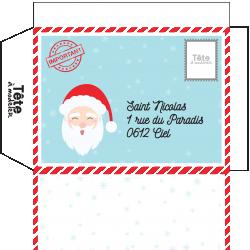 Cette enveloppe toute prête est à imprimer gratuitement. Avec son adresse pré-écrite, elle est aussi très pratique pour y glisser très facilemen...