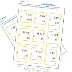 Pour colorier il faut faire une multiplication
