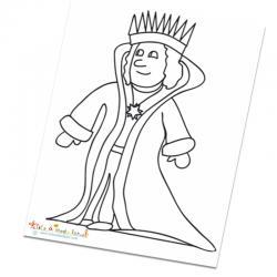 Coloriage des rois de contes de fées