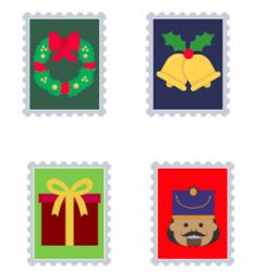 Faux timbres sur le thème de Noël et du Père Noël. Ces faux timbres de Noël permettront de décorer les lettres ou les enveloppes envoyées au Père Noël ou aux amis e