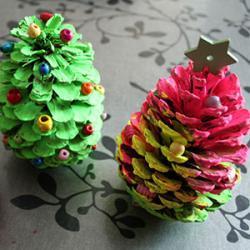 DIY - un tuto pour décorer des pommes de pin