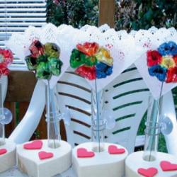 Fleurs en plastique pour la fête des mères