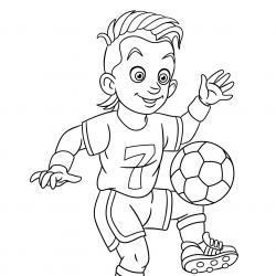 Collection de coloriages sur le Foot : joueurs de Foot, ballon ovale : le ballon du Foot.