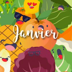 Consommer des fruits et légumes de saison c'est bon pour l'environnement mais aussi pour vous ! Pomme de terre, ananas ou encore pamplemousse : retrouvez notre jolie liste des fruits et légumes de janvier. Vous pourrez même l'imprimer et la coller sur le