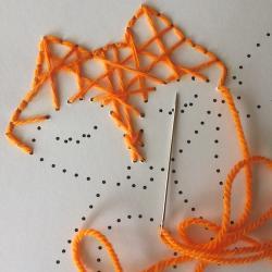 Un gabarit à télécharger et imprimer pour vous aider à réaliser le renard en fils tendus