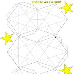 Le gabarit de l'étoile de Noël à suspendre à télécharger et à imprimer gratuitement