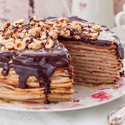 Recette du gâteau de crêpes au chocolat