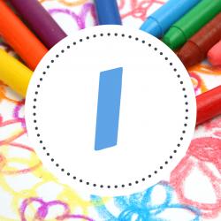 Dessin pour colorier son prénom commençant par la lettre I