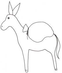 coloriage d'un âne