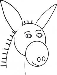 Coloriage tête d'âne