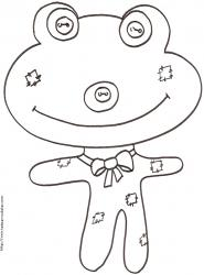 Coloriage d'une grenouille animal patchwork