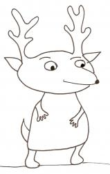 coloriage de monsieur le petit renne